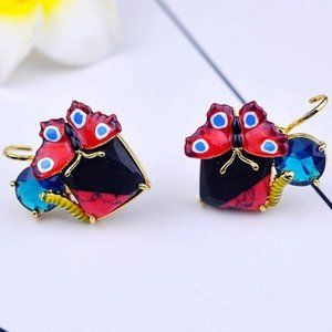Les Nereides Obscure Butterfly Insect Earrings